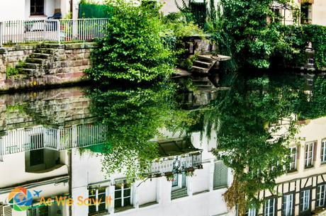 Beautiful reflection in a canal, Strasbourg.