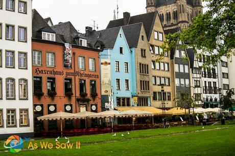 Water front buildings in Cologne.