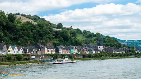 Small village along the Rhine River.