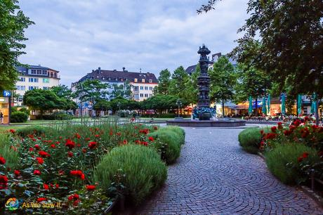Relaxing square in Koblenz, Germany.