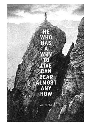 Inspirational Quote: He Who Has A Why To Live Can Bear Almost Any How