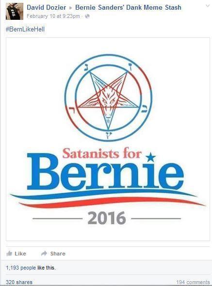 Satanists for Bernie 2016