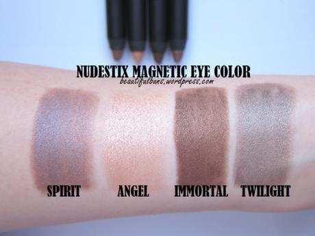Review Swatches Nudestix Magnetic Eye Color In Angel