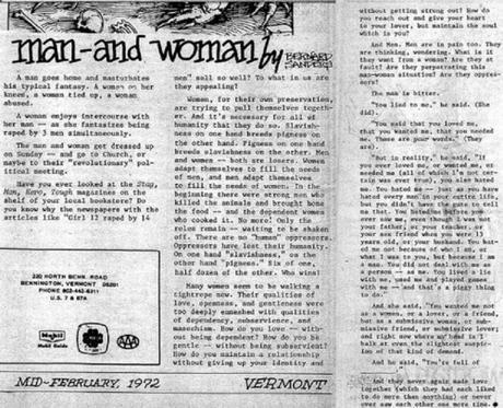 Bernie Sanders' 1972 article Man and Woman