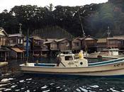 穏やかな入江をのぞむ舟屋のまちなみ、伊根 Ine, Funayas Built Water's Edge.