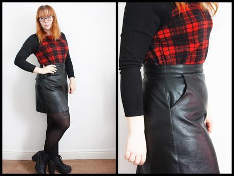 Tartan Raglan Jumper with Aline skirt