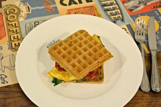 Paleo Bacon & Egg Wafflewich {gluten free, dairy free, soy free}