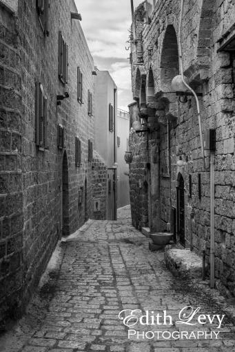 Israel, Tel Aviv, Old Jaffa, Yafo, black and white, old city, travel photography