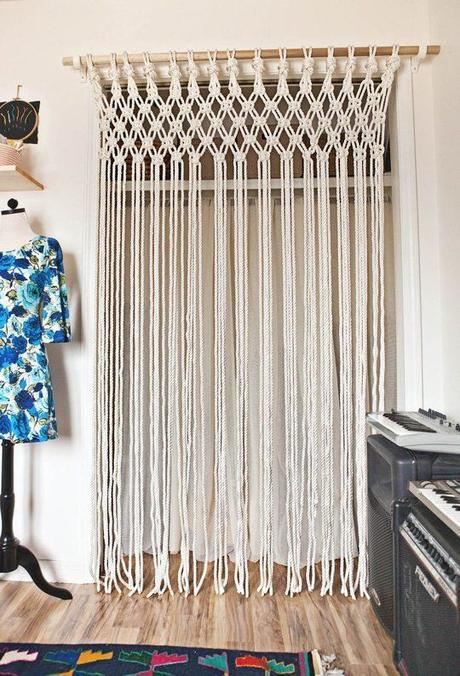 DIY Room Decor: Make Your Own Macrame Curtain A Beautiful Mess | Apartment Therapy:
