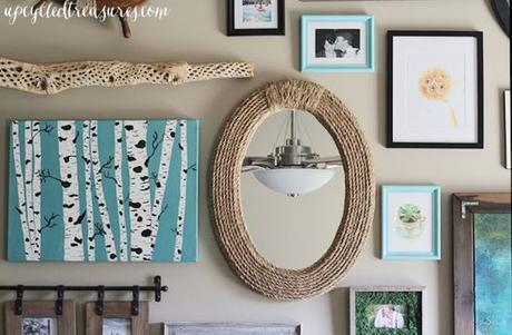 DIY Nautical Rope Mirror: