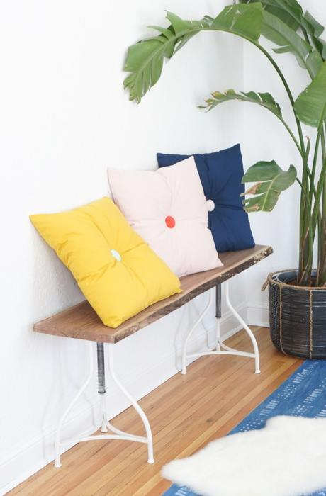 Primp Your Place with DIY Button Tufted Pillows - Paperblog