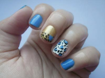 DIY: Easy mix & match nail design by Eleftheria