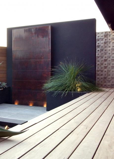 Montage 15 modern wall fountains paperblog - Wasserwand outdoor ...