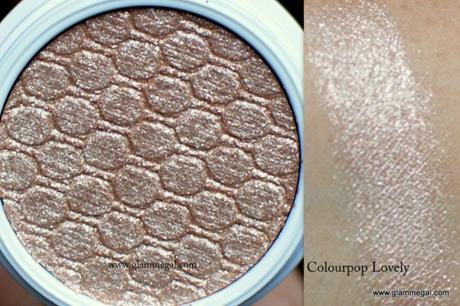 Colourpop lovely is a soft rose gold eyeshadow