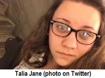 Talia Jane's pic on Twitter