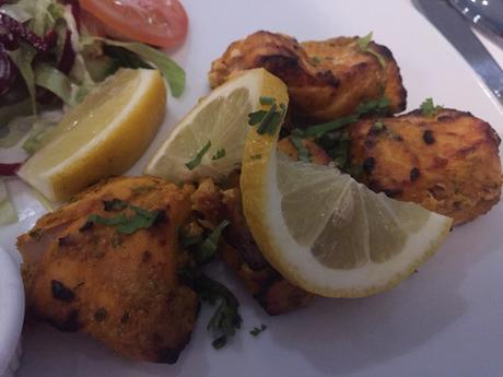 Order the Salmon Tikka at Phewa Nepalese restaurant in East Molesey