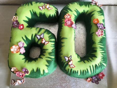 Stupendous 60Th Birthday Cake Paperblog Personalised Birthday Cards Petedlily Jamesorg