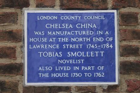 #plaque366 Tobias Smollett & Chelsea China