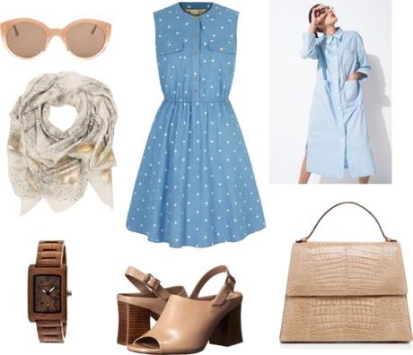 Brooklyn movie inspired - blue midi dress