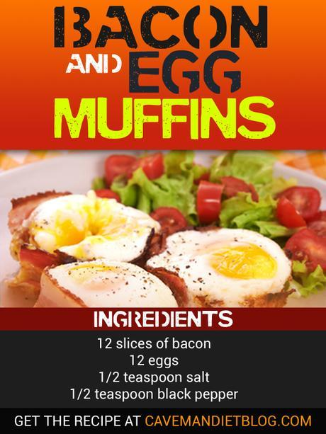 paleo breakfast egg muffins image with ingredients