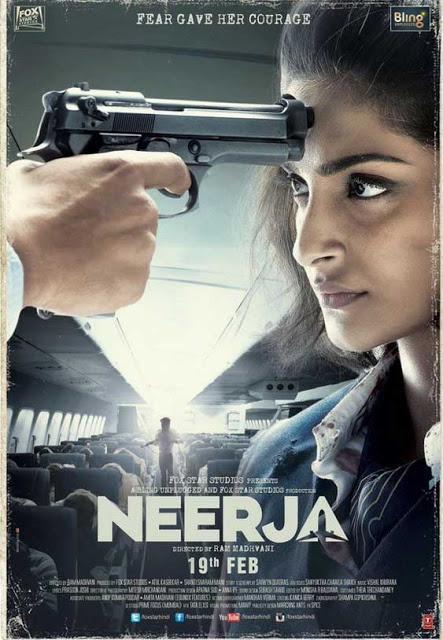 Neerja, movie poster, starring Sonam Kapoor