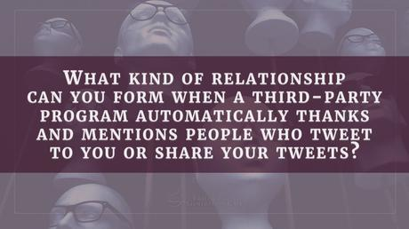 Relationship marketing: can you build one with automatic software?
