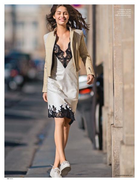 Marie-Ange Casta wearing Céline and H&M © Benjamin Kanarek