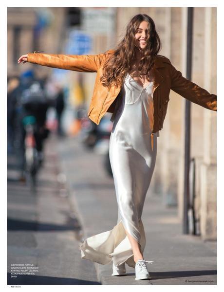 Marie-Ange Casta wearing Calvin Klein, Ralph Lauren, DKNY © Benjamin Kanarek