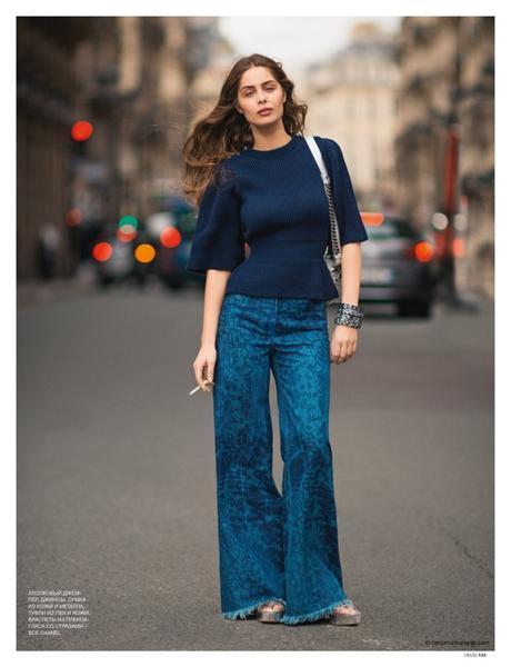 Marie-Ange Casta wearing Chanel © Benjamin Kanarek