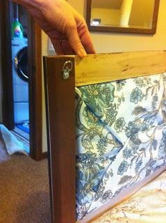 DIY EASY Window Cornice Out of Old Art Frames