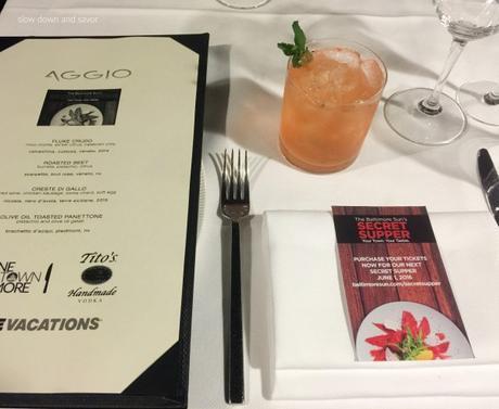 The Baltimore Sun's Secret Supper at AGGIO