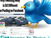 Tweeting Away Different Than Posting Facebook