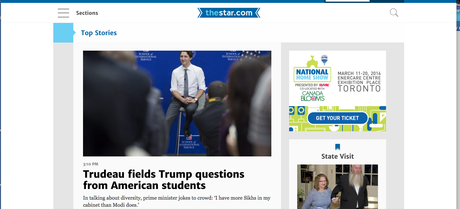 It's a new website design for The Toronto Star
