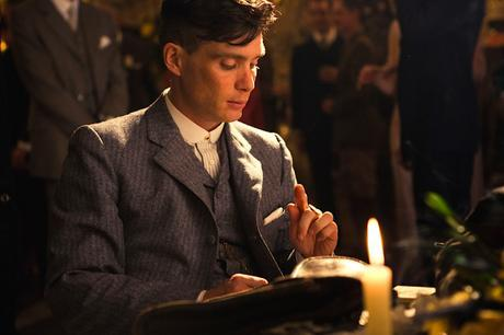 A promotional still of Cillian Murphy on Peaky Blinders.