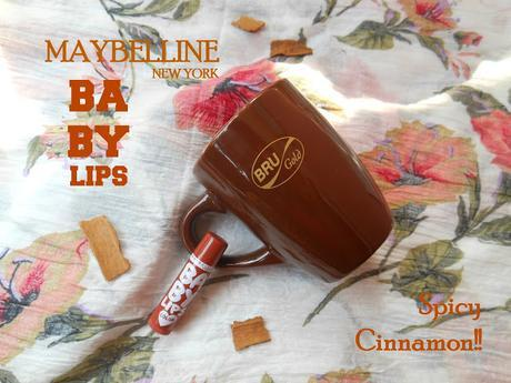 Summer Love : Coffee and Maybelline Baby Lips Spiced Up! Lip Balm Spicy Cinnamon