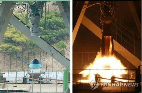 Missile warhead used in a simulation observed by Kim Jong Un (Photo: KCNA-Yonhap).