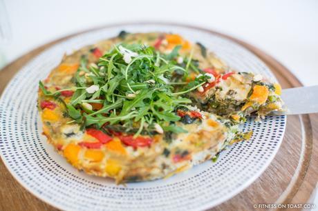 Fitness On Toast Faya Blog Post Blue Diamond Almonds Vegetable Frittata Healthy Recipe Idea Food Blog Recipes