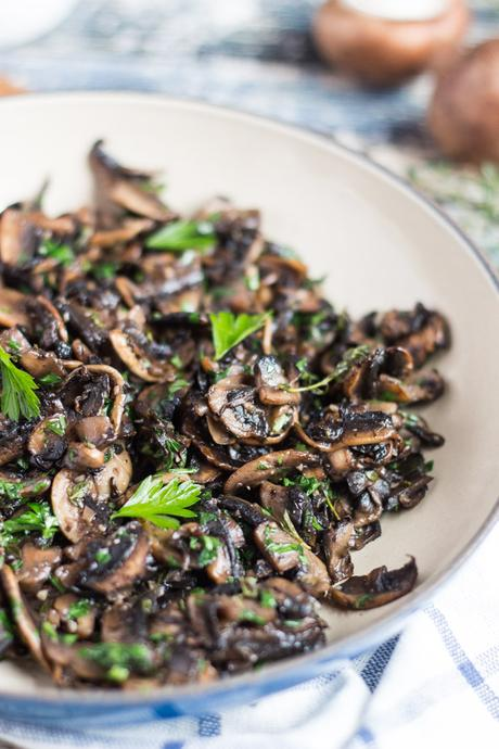 Kitchen Basics: Freezer Ready Garlic Mushrooms