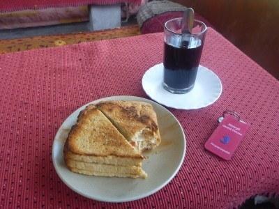 Breakfast at Mowgli Guest House