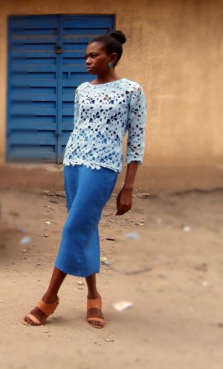 Pastel Blue Cord Lace