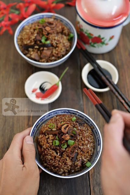 one pot rice cooker healthy traditional Hokkien yam rice