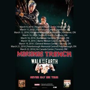 Marianas Trench - Ontario Tour Dates