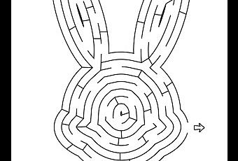 graphic regarding Easter Maze Printable identify Easter 7 days - Easter Maze Cost-free Printable - Paperblog