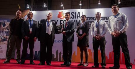 Samriddhi wins an award at the Asia Liberty Forum in Kuala Lumpur.