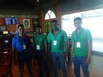 The happy staff at the Irish House