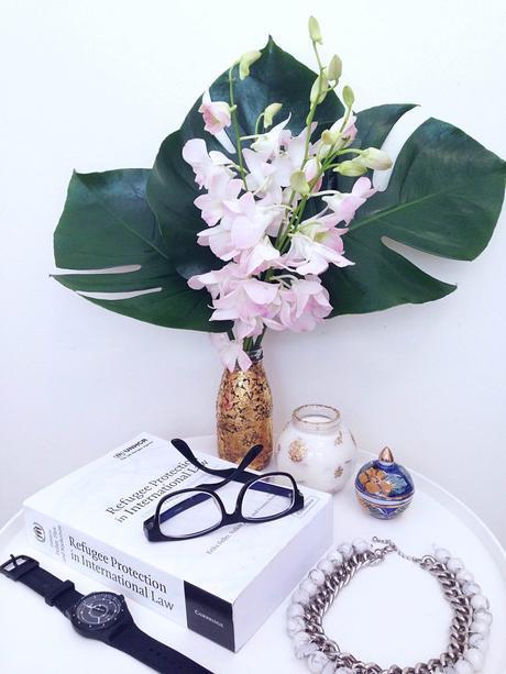 DIY Gold Leaf Vase