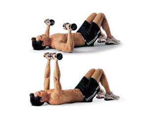 Dumbbell Floor Press Pectoral Exercises