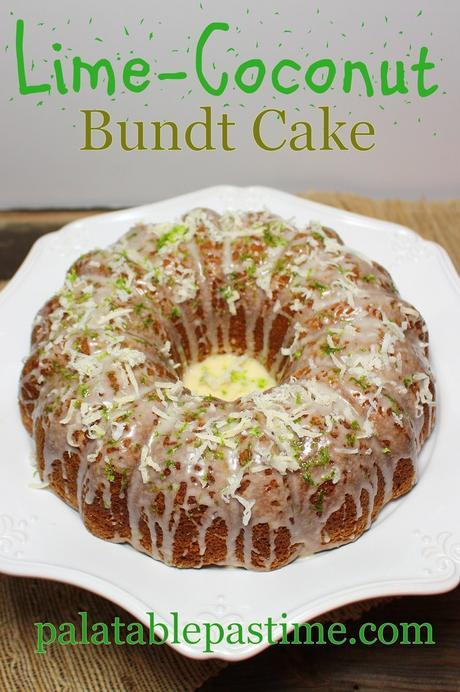 Lime Coconut Bundt Cake #BundtBakers