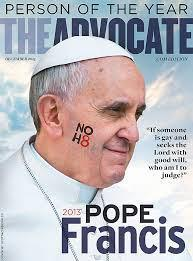 The Advocate's Pope Francis cover