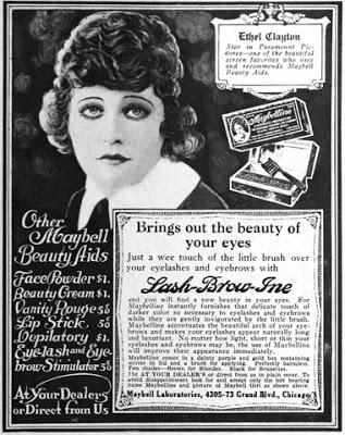 Beautiful Silent Film Stars endorse Maybelline and promote the Women's Movement